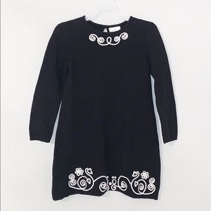 HANNA ANDERSON Black & White Knit Dress